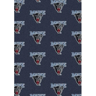 "Milliken College Repeating (NCAA) Maine 01155 Repeat Rectangle (4000018920) 7'8"" x 10'9"" Area Rug"