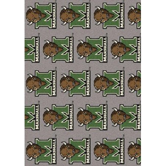 "Milliken College Repeating (NCAA) Marshall 01175 Repeat Rectangle (4000096183) 3'10"" x 5'4"" Area Rug"