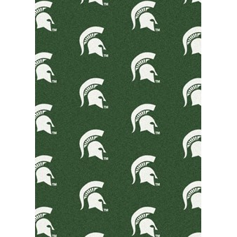 "Milliken College Repeating (NCAA) Michigan State 01180 Repeat Rectangle (4000018996) 10'9"" x 13'2"" Area Rug"