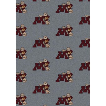 "Milliken College Repeating (NCAA) Minnesota 01185 Repeat Rectangle (4000018925) 7'8"" x 10'9"" Area Rug"