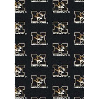 "Milliken College Repeating (NCAA) Missouri 01200 Repeat Rectangle (4000018928) 7'8"" x 10'9"" Area Rug"