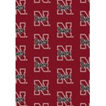 "Milliken College Repeating (NCAA) Nebraska 01230 Repeat Rectangle (4000018858) 5'4"" x 7'8"" Area Rug"