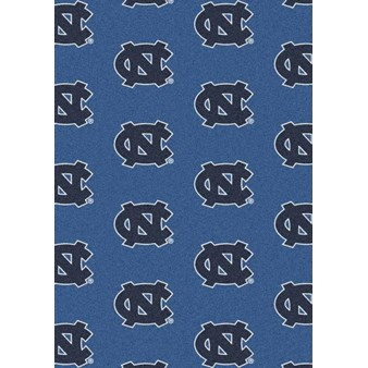 "Milliken College Repeating (NCAA) North Carolina 01250 Repeat Rectangle (4000018931) 7'8"" x 10'9"" Area Rug"