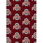 "Milliken College Repeating (NCAA) Ohio State 01000 Repeat Rectangle (4000018964) 10'9"" x 13'2"" Area Rug"