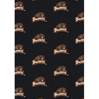 "Milliken College Repeating (NCAA) Oregon State 01294 Repeat Rectangle (4000018792) 3'10"" x 5'4"" Area Rug"