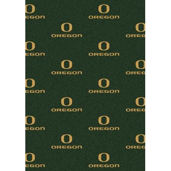 "Milliken College Repeating (NCAA) Oregon 01292 Repeat Rectangle (4000018791) 3'10"" x 5'4"" Area Rug"