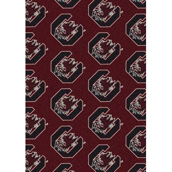 "Milliken College Repeating (NCAA) South Carolina 01350 Repeat Rectangle (4000018868) 5'4"" x 7'8"" Area Rug"
