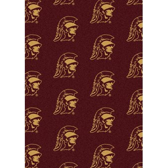 "Milliken College Repeating (NCAA) Southern California 01370 Repeat Rectangle (4000018941) 7'8"" x 10'9"" Area Rug"