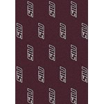 "Milliken College Repeating (NCAA) Southern Illinois 01380 Repeat Rectangle (4000018942) 7'8"" x 10'9"" Area Rug"