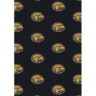 "Milliken College Repeating (NCAA) Southern Mississippi 01392 Repeat Rectangle (4000018872) 5'4"" x 7'8"" Area Rug"