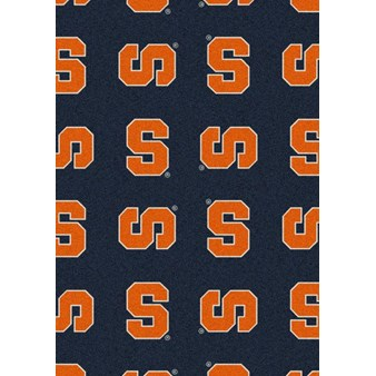 "Milliken College Repeating (NCAA) Syracuse 01396 Repeat Rectangle (4000018873) 5'4"" x 7'8"" Area Rug"