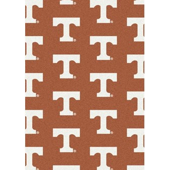 "Milliken College Repeating (NCAA) Tennessee 01400 Repeat Rectangle (4000019018) 10'9"" x 13'2"" Area Rug"