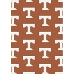 "Milliken College Repeating (NCAA) Tennessee 01400 Repeat Rectangle (4000018874) 5'4"" x 7'8"" Area Rug"