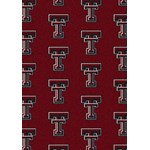 "Milliken College Repeating (NCAA) Texas Tech 01440 Repeat Rectangle (4000019022) 10'9"" x 13'2"" Area Rug"