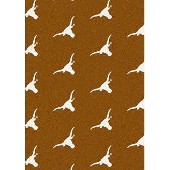"Milliken College Repeating (NCAA) Texas 01410 Repeat Rectangle (4000018803) 3'10"" x 5'4"" Area Rug"