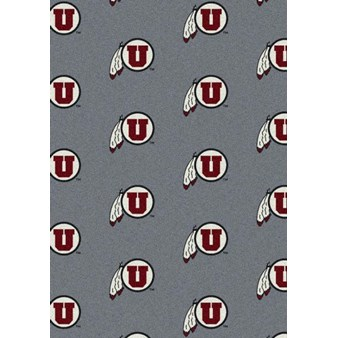 "Milliken College Repeating (NCAA) Utah 01452 Repeat Rectangle (4000018951) 7'8"" x 10'9"" Area Rug"