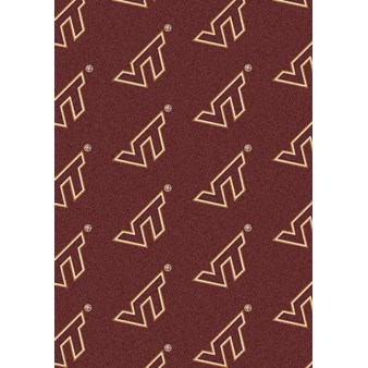 "Milliken College Repeating (NCAA) Virginia Tech 01460 Repeat Rectangle (4000018881) 5'4"" x 7'8"" Area Rug"