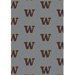 "Milliken College Repeating (NCAA) Washington 01464 Repeat Rectangle (4000018883) 5'4"" x 7'8"" Area Rug"