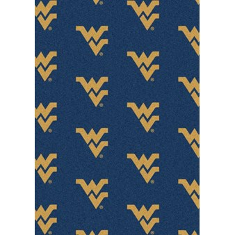 "Milliken College Repeating (NCAA) West Virginia 01470 Repeat Rectangle (4000018885) 5'4"" x 7'8"" Area Rug"