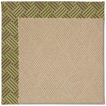 Capel Rugs Creative Concepts Cane Wicker - Dream Weaver Marsh (211) Octagon 4' x 4' Area Rug