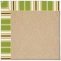 Capel Rugs Creative Concepts Cane Wicker - Tux Stripe Green (214) Octagon 4