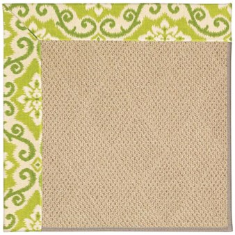 Capel Rugs Creative Concepts Cane Wicker - Shoreham Kiwi (220) Octagon 4' x 4' Area Rug