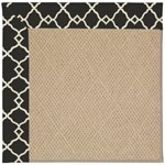 Capel Rugs Creative Concepts Cane Wicker - Arden Black (346) Octagon 4' x 4' Area Rug