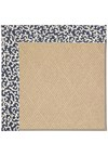 Capel Rugs Creative Concepts Cane Wicker - Coral Cascade Navy (450) Octagon 4' x 4' Area Rug