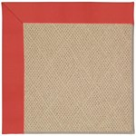 Capel Rugs Creative Concepts Cane Wicker - Canvas Paprika (517) Octagon 4' x 4' Area Rug