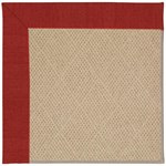 Capel Rugs Creative Concepts Cane Wicker - Canvas Cherry (537) Octagon 4' x 4' Area Rug