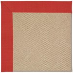 Capel Rugs Creative Concepts Cane Wicker - Dupione Crimson (575) Octagon 4' x 4' Area Rug