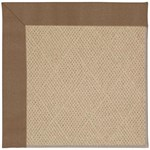 Capel Rugs Creative Concepts Cane Wicker - Canvas Cocoa (747) Octagon 6' x 6' Area Rug