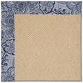Capel Rugs Creative Concepts Cane Wicker - Paddock Shawl Indigo (475) Octagon 8