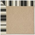 Capel Rugs Creative Concepts Cane Wicker - Down The Lane Ebony (370) Octagon 10