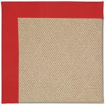 Capel Rugs Creative Concepts Cane Wicker - Canvas Jockey Red (527) Octagon 10' x 10' Area Rug