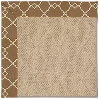Capel Rugs Creative Concepts Cane Wicker - Arden Chocolate (746) Octagon 10' x 10' Area Rug