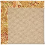 Capel Rugs Creative Concepts Cane Wicker - Tuscan Vine Adobe (830) Octagon 10' x 10' Area Rug