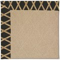 Capel Rugs Creative Concepts Cane Wicker - Bamboo Coal (356) Octagon 12