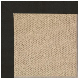 Capel Rugs Creative Concepts Cane Wicker - Canvas Black (314) Rectangle 4' x 4' Area Rug