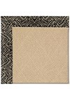 Capel Rugs Creative Concepts Cane Wicker - Wild Thing Onyx (396) Rectangle 6' x 6' Area Rug