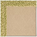 Capel Rugs Creative Concepts Cane Wicker - Coral Cascade Avocado (225) Rectangle 7