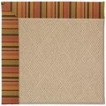 Capel Rugs Creative Concepts Cane Wicker - Tuscan Stripe Adobe (825) Rectangle 7