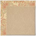 Capel Rugs Creative Concepts Cane Wicker - Paddock Shawl Persimmon (810) Rectangle 8