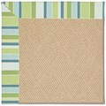 Capel Rugs Creative Concepts Cane Wicker - Capri Stripe Breeze (430) Rectangle 9