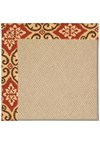 Capel Rugs Creative Concepts Cane Wicker - Shoreham Brick (800) Rectangle 12' x 12' Area Rug
