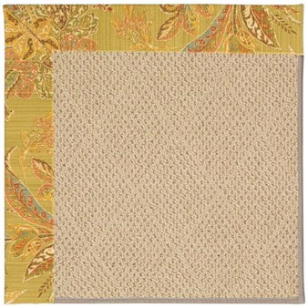 Capel Rugs Creative Concepts Cane Wicker - Cayo Vista Tea Leaf (210) Rectangle 12' x 15' Area Rug