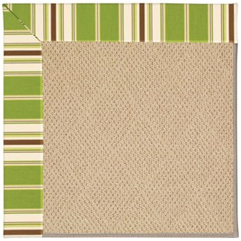 Capel Rugs Creative Concepts Cane Wicker - Tux Stripe Green (214) Rectangle 12' x 15' Area Rug