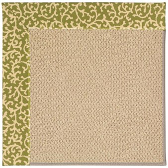 Capel Rugs Creative Concepts Cane Wicker - Coral Cascade Avocado (225) Rectangle 12' x 15' Area Rug