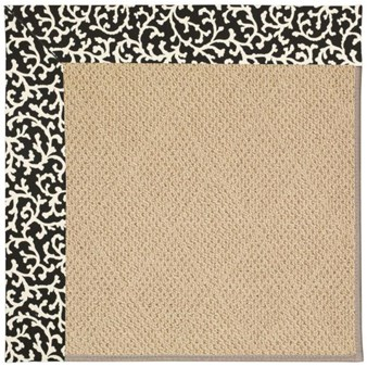 Capel Rugs Creative Concepts Cane Wicker - Coral Cascade Ebony (385) Rectangle 12' x 15' Area Rug