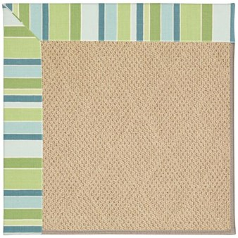 Capel Rugs Creative Concepts Cane Wicker - Capri Stripe Breeze (430) Rectangle 12' x 15' Area Rug